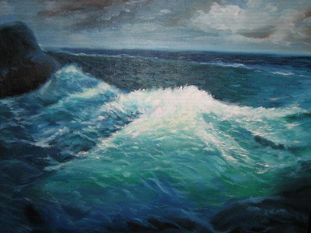 海景油画-027